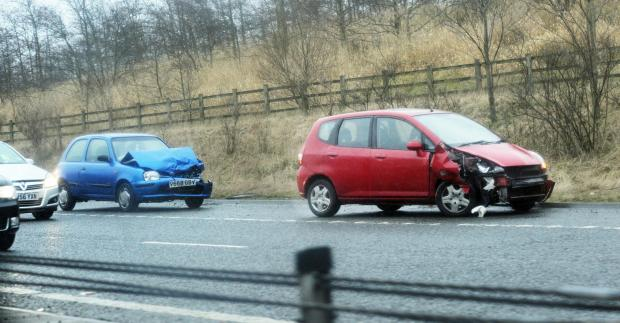 Accident on the M65 Westbound between Junctions 4 and 3