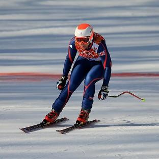Chemmy Alcott finished 19th in the women's downhill