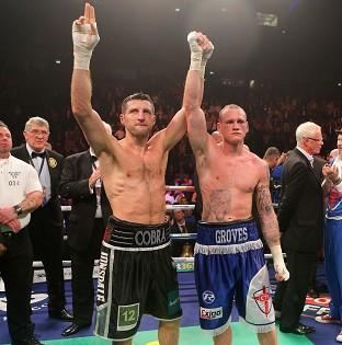 Carl Froch, left, and George Groves will clash for a second time on May 31