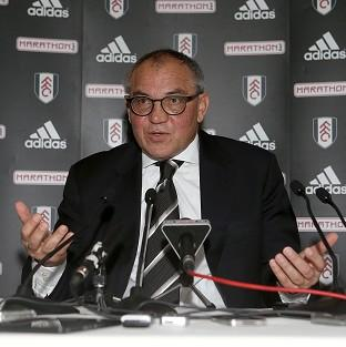 Felix Magath facing the press for the first time since taking charge at Fulham