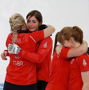 Eve Muirhead, second left, is confident Britain's women's curlers can add to their Olympic medal haul