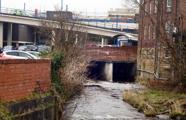 Lancashire Telegraph: An unconscious man was rescued from the riverbank near McDonald's in Burnley