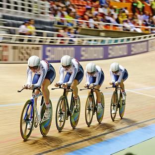 Britain's women's team pursuit squad won gold