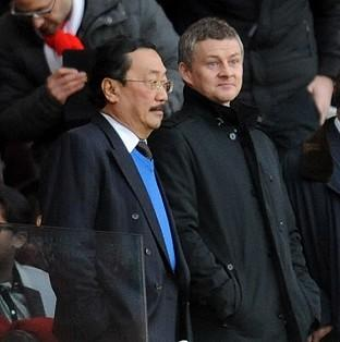 Ole Gunnar Solskjaer, right, has been boosted by a speech given by Vincent Tan
