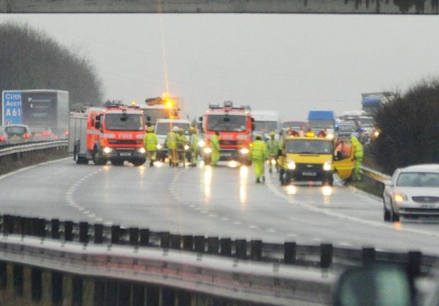 LATEST: Long delays on M65 after multi-vehicle smash