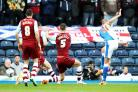 Jordan Rhodes puts Rovers in front the last time they played Burnley