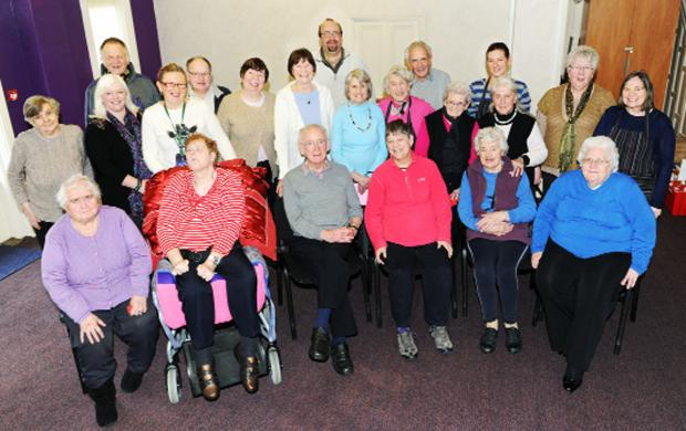 Members of Rosehill Luncheon Club at Rosehill Baptist Church, Burnley