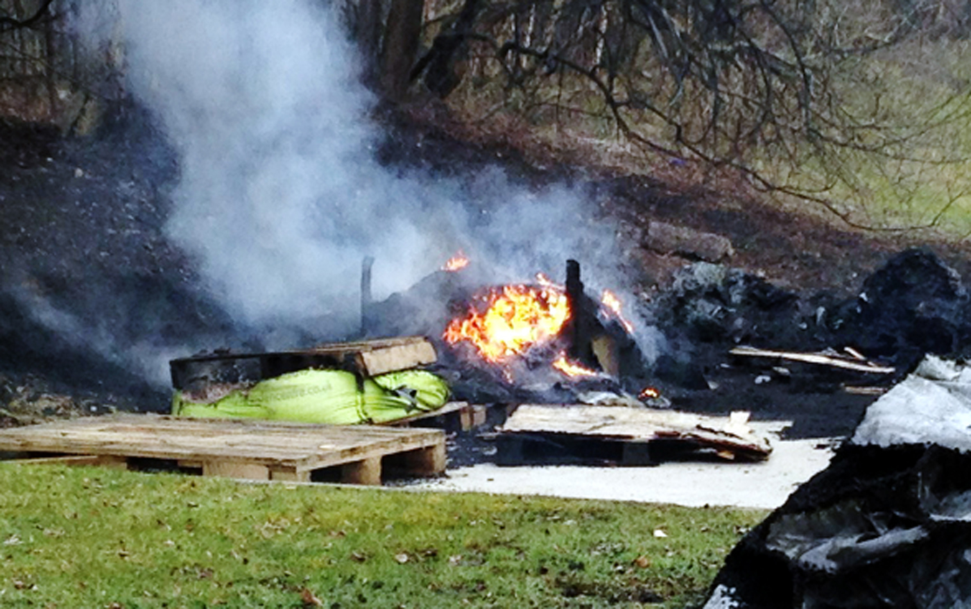 Arsonists torch 15 tonnes of rubber in Burnley
