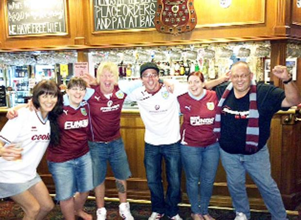 Burnley fans in  The Charles Dickens pub, Melbourne