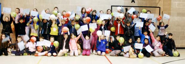 Pupils who took part in the week long Gifted and Talented camp which was held at St Bede's High School