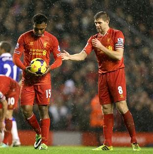 Steven Gerrard, right, believes Daniel Sturridge, left, can be one of the stars of the World Cup