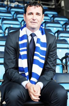 Boss Gary Bowyer on the day he was unveiled as Rovers' permanent boss in May last year
