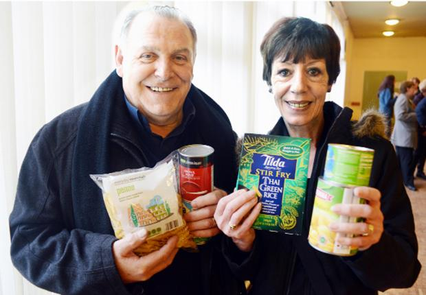 Founders Peter and Eve Gattei at the opening of their Food Bank