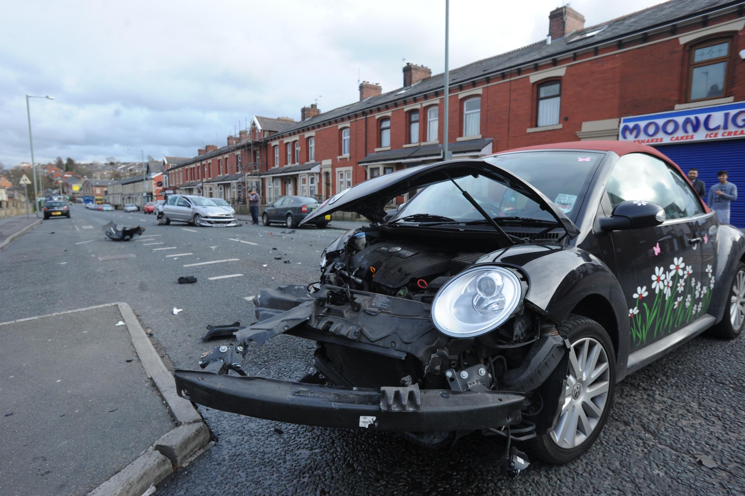 Man arrested after dramatic rush hour smash in Audley