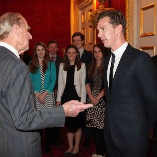 Benedict Cumberbatch met the Duke of Edinburgh during the ceremony