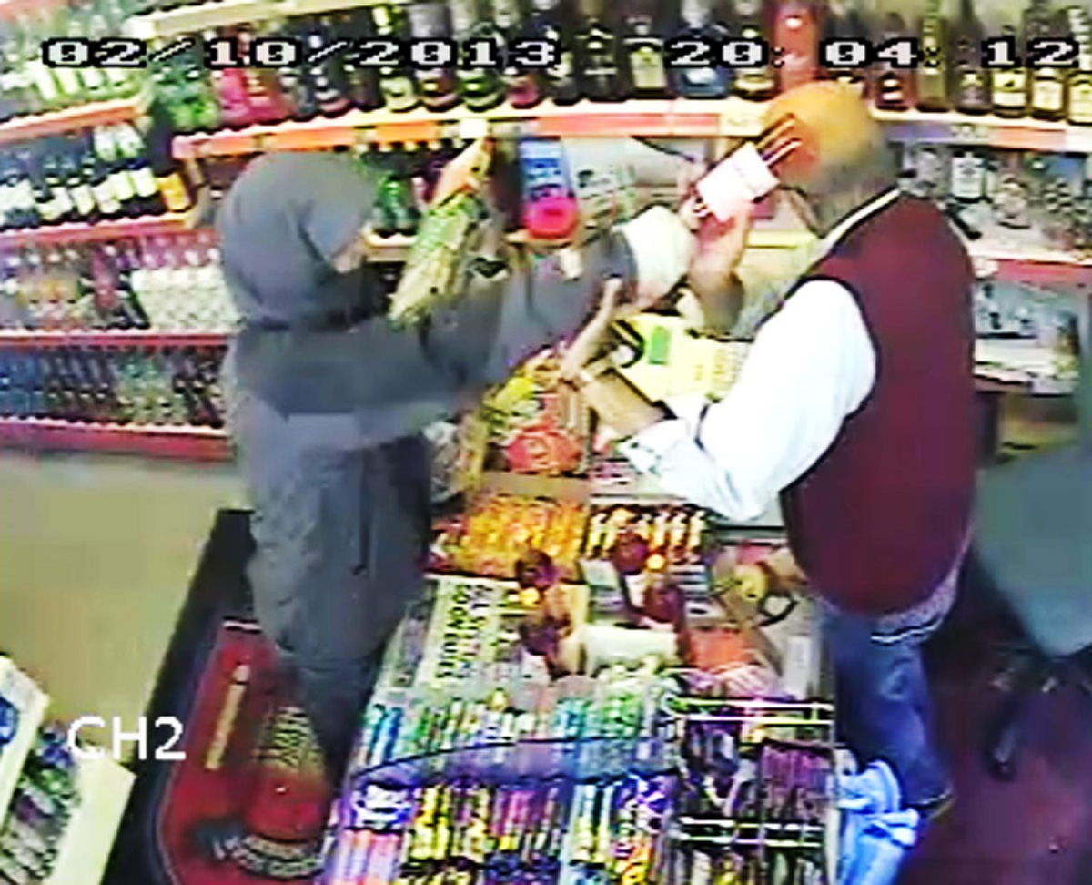 Judge praises courage of Blackburn shopkeeper hit over the head with wine bottle