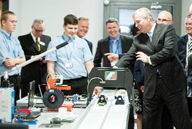 The Duke of York meets staff and students