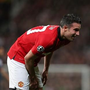 Robin van Persie was injured in Manchester United's win over Olympiacos on Wednesday