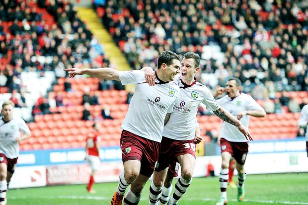 Sam Vokes celebrates his penalty on Saturday