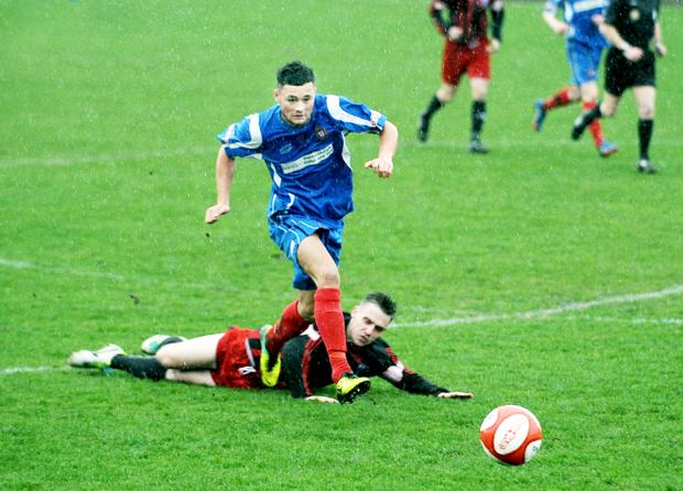 Scott Byrom makes headway for Clitheroe on Saturday Picture: COLIN HORNE