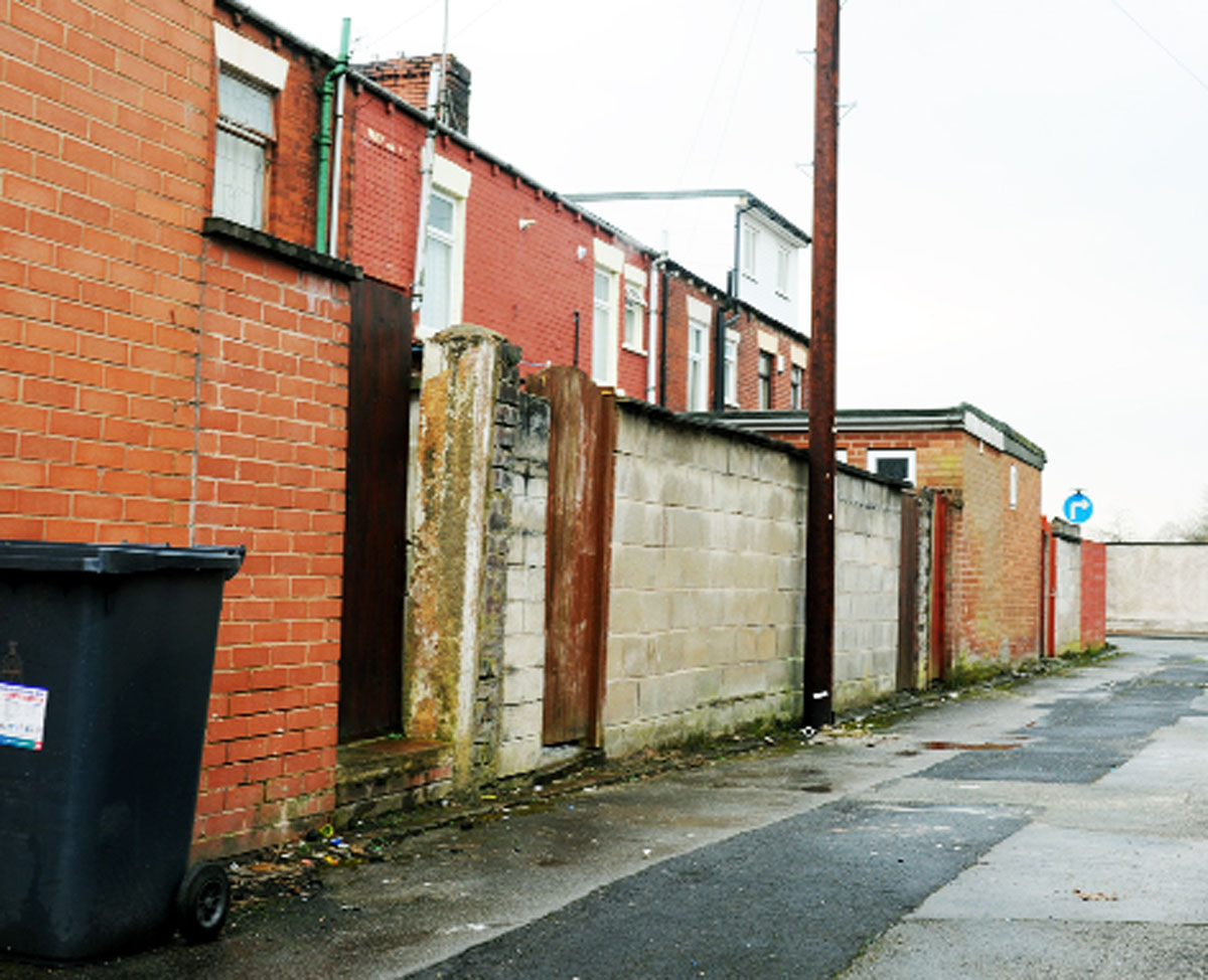 Raiders entered a house in Edith Street, Blackburn, from the rear and brandished a knife