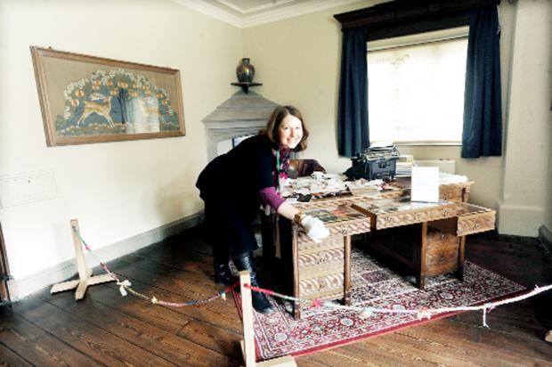 Textile enthusiasts treated to historic collection at Gawthorpe Hall