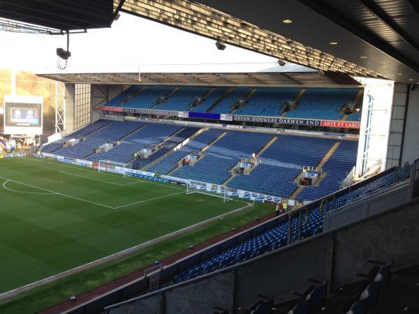 The away section at Ewood Park