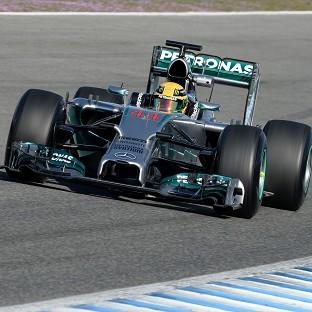 Lewis Hamilton finished fastest in the first practice in Bahrain