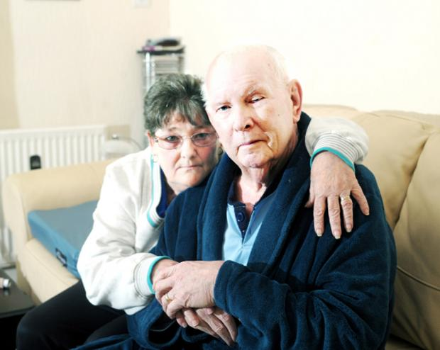 Lancashire Telegraph: Joan Sharples with her husband Bob, who died last week