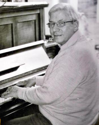 Peter Fielding at the piano in more recent years