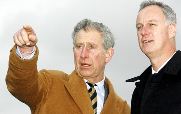 Burnley Council chief Steve Rumbelow with Prince Charles when he visited the town in 2008