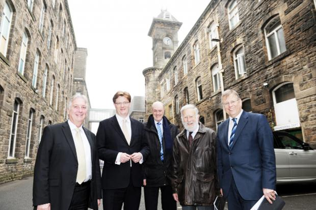 Danny Alexander (second left), Chief Secretary to the Treasury, is one of three senior ministers to have recently visited Brierfield Mill,