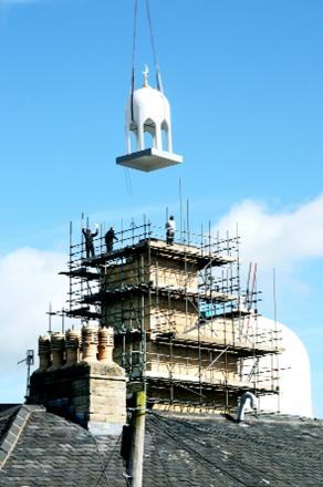 Roof installed on new Burnley mosque