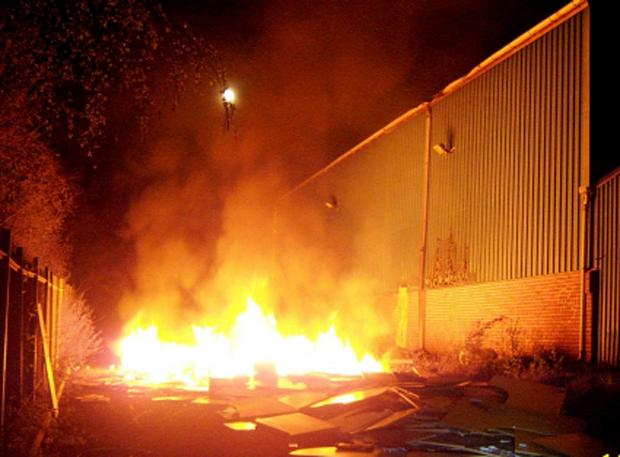 Lancashire Telegraph: The blaze at the former East Lancashire Warehousing building