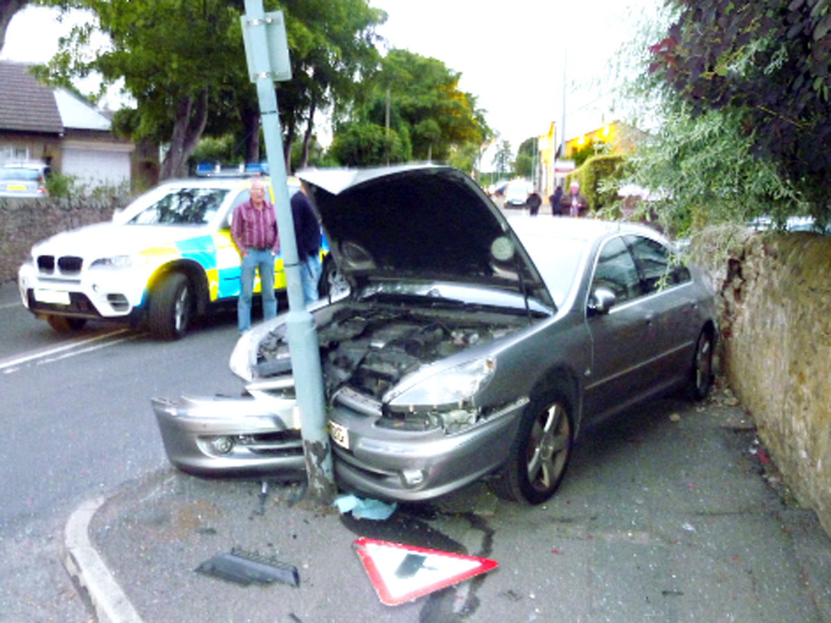 Trail of destruction left by speeding East Lancs driver