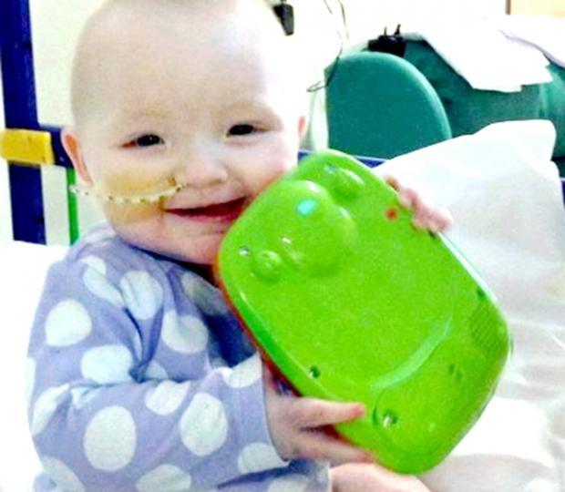 Lancashire Telegraph: Ava-Jai is now recovering from her  life-saving operaton