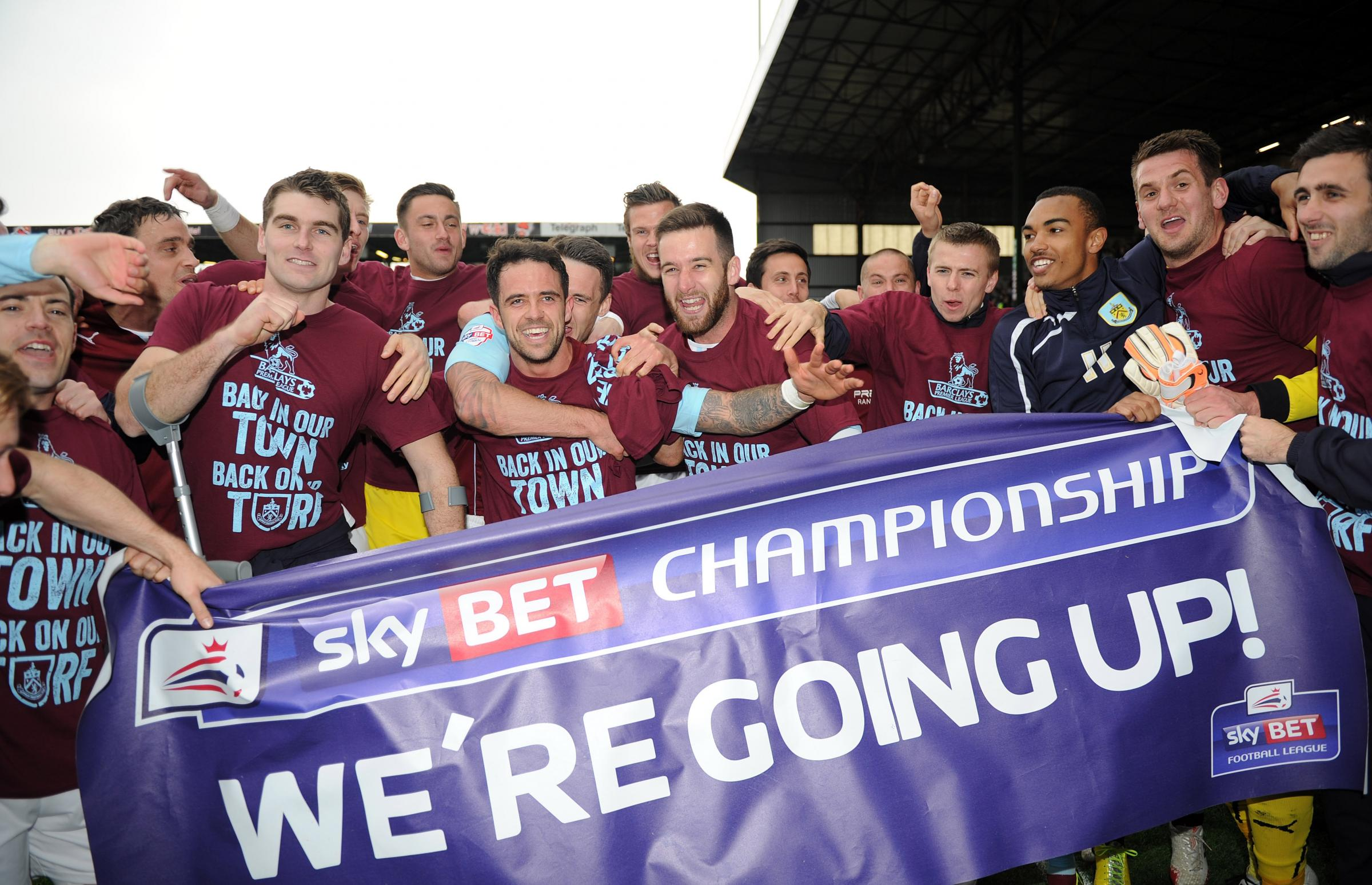 GOING UP: Burnley promoted to Premier League