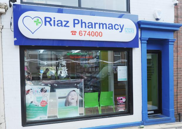 Riaz Hinglotwala's pharmacy in Shear Brow
