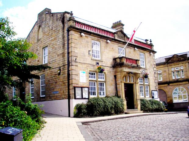 The town hall in Brierfield