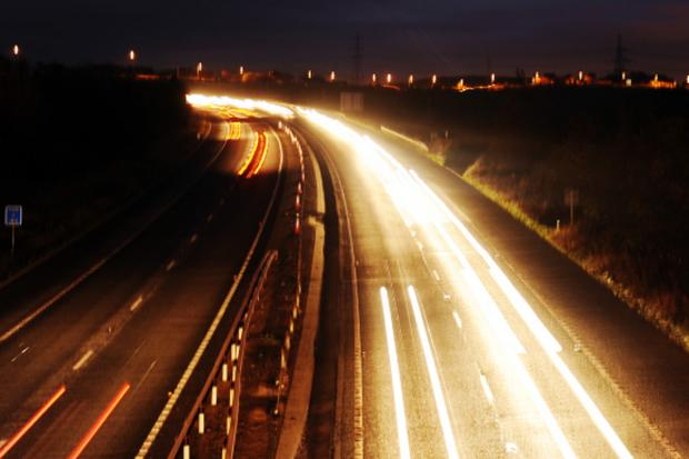 The M65 where the lights are switched off