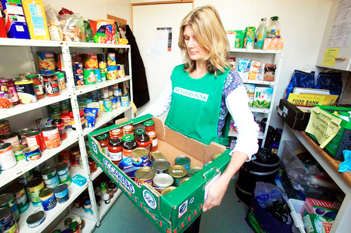 Foodbank shelves constantly need refilling