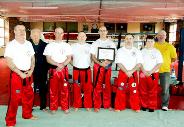 Blackburn Martial Arts and Kickboxing Club has held it's latest black belt grading session where Richard Habany achieved his Black Belt in Kickboxing