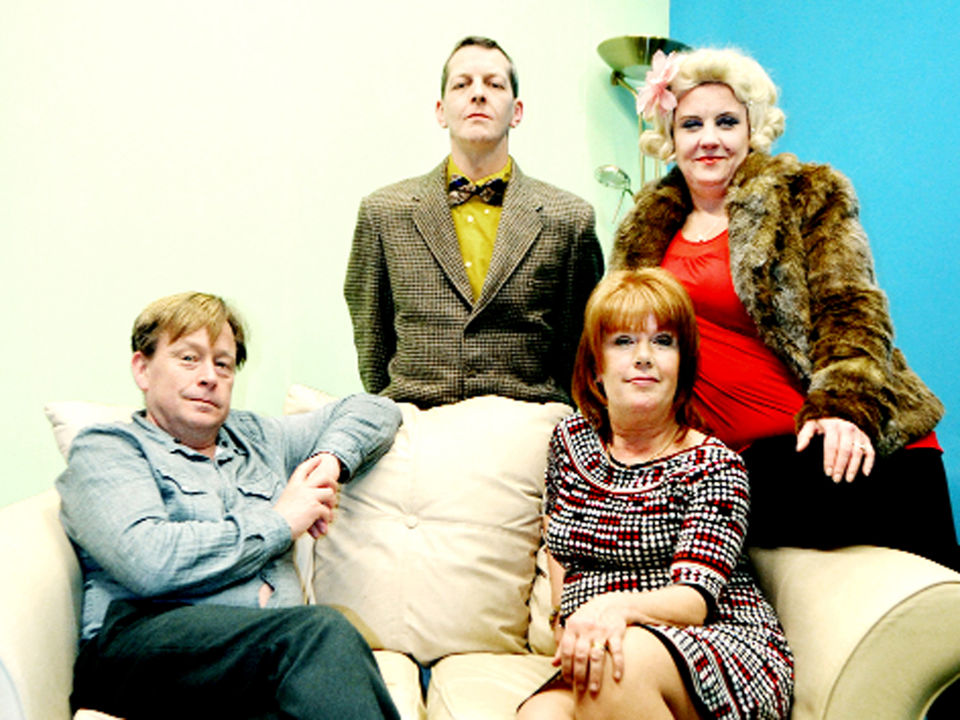 The cast of Colne Dramatic Society's play Baggage