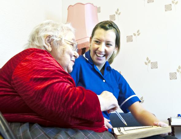 Nurses can update patients' records on visits