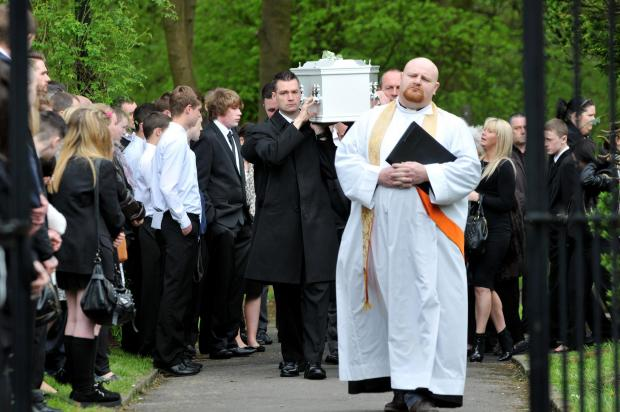 Hundreds say farewell to Burnley boy who fell from canal bridge pipe
