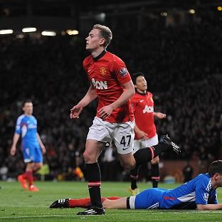 James Wilson celebrates his second goal