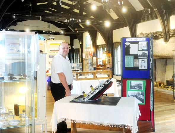 Nigel Hampson, of Lancashire Titanic Museum, which has moved from Colne and is now based in Samlesbury Hall