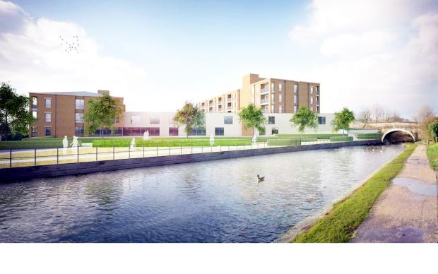 An artist's impression of the planned adult care unit on the site of the former Albion Mill in Ewood