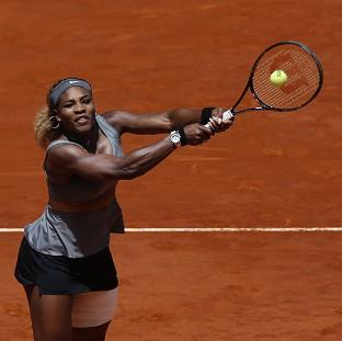Serena Williams has suffered an injury setback ahead of the French Open (AP)
