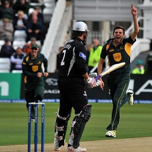 Harry Gurney, right, has impressed for Nottinghamshire in one-day cricket